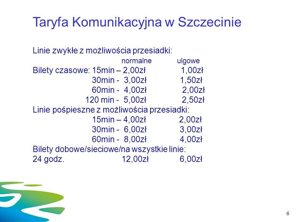 Taryfa Komunikacyjna w Szczecinie