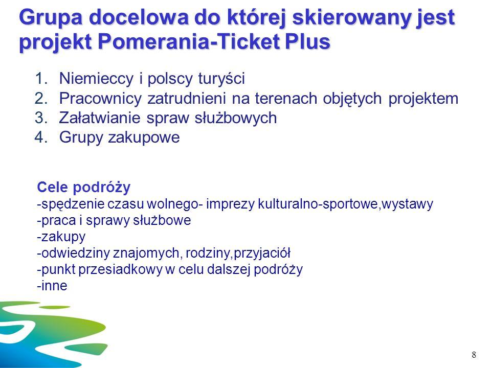 Grupa docelowa do której skierowany jest projekt Pomerania-Ticket Plus