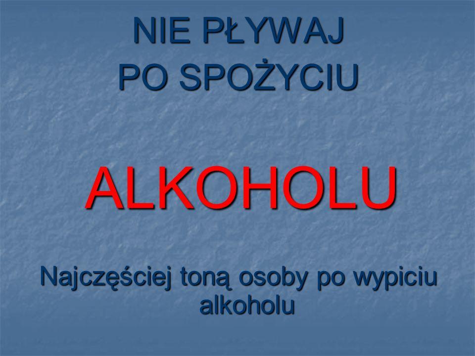Najczęściej toną osoby po wypiciu alkoholu