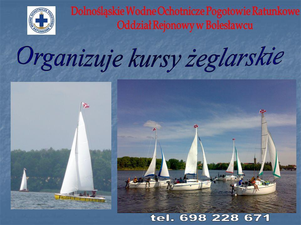 Organizuje kursy żeglarskie