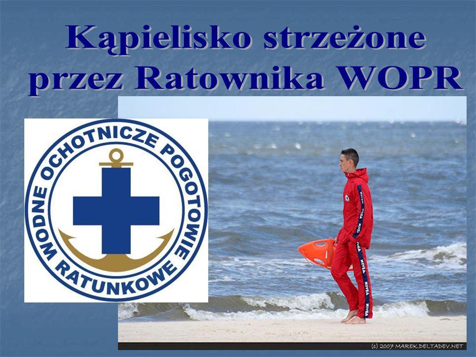 Kąpielisko strzeżone przez Ratownika WOPR