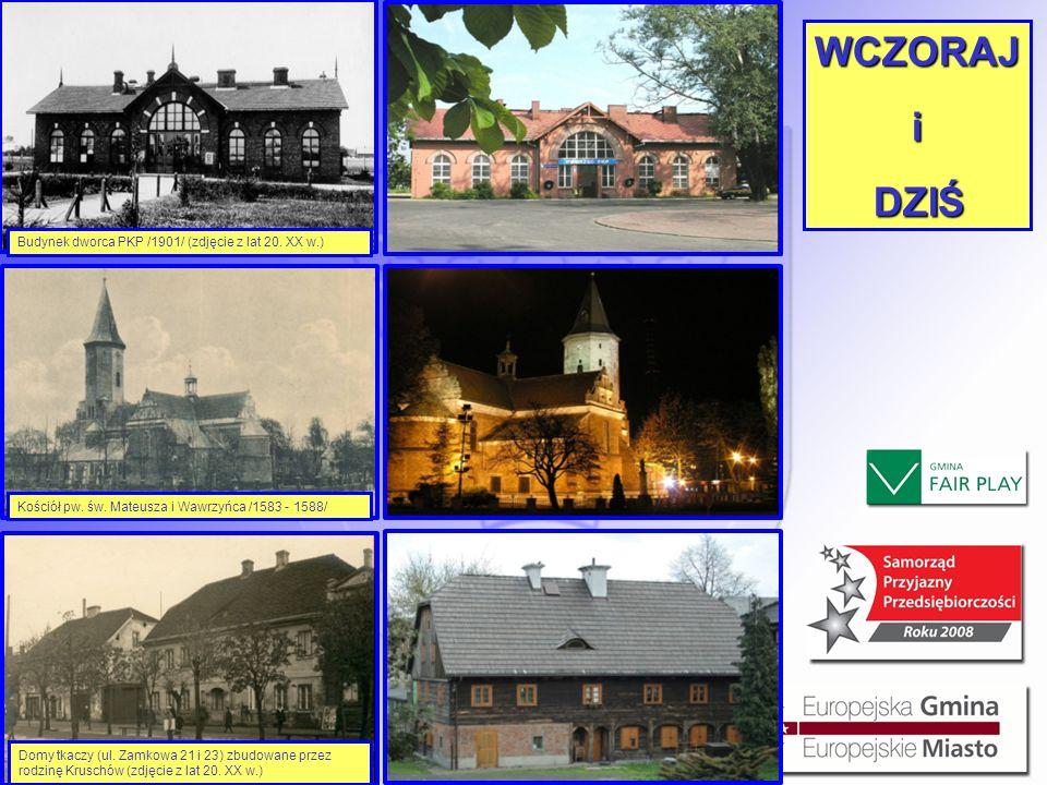 WCZORAJ i DZIŚ Budynek dworca PKP /1901/ (zdjęcie z lat 20. XX w.)