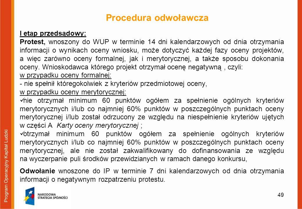 Procedura odwoławcza I etap przedsądowy: