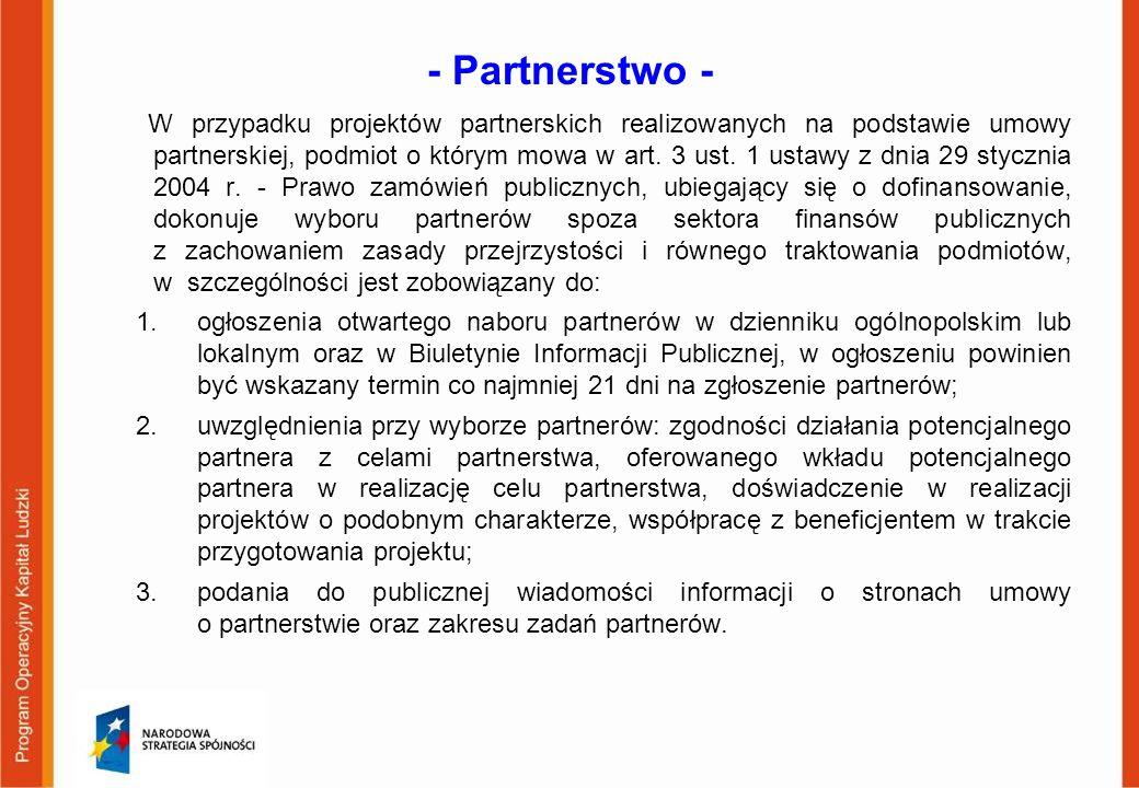 - Partnerstwo -