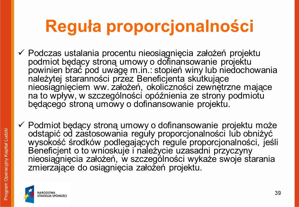 Reguła proporcjonalności