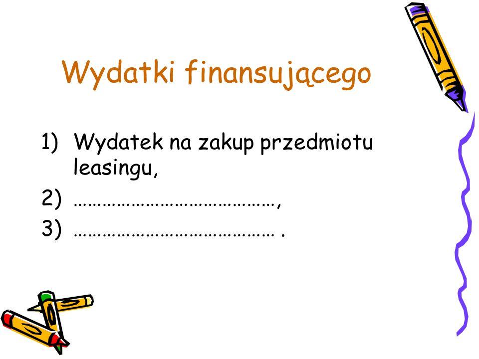 Wydatki finansującego