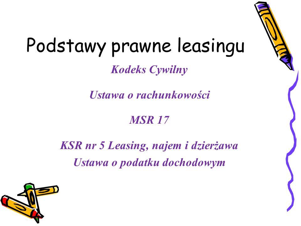 Podstawy prawne leasingu