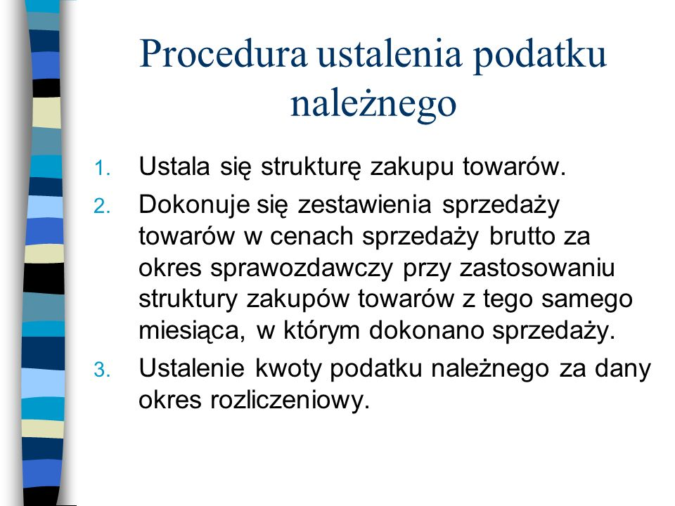 Procedura ustalenia podatku należnego