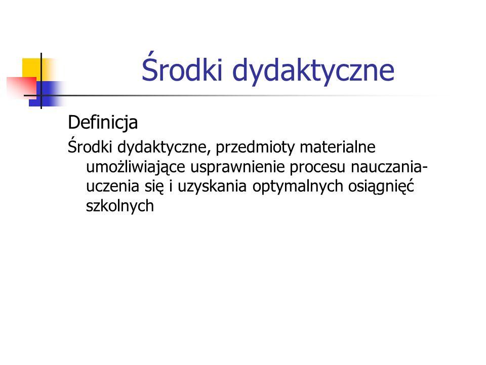 Środki dydaktyczne Definicja