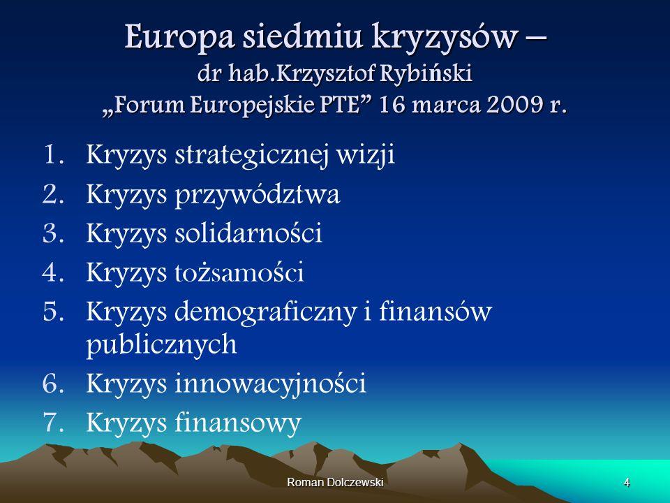 Europa siedmiu kryzysów – dr hab