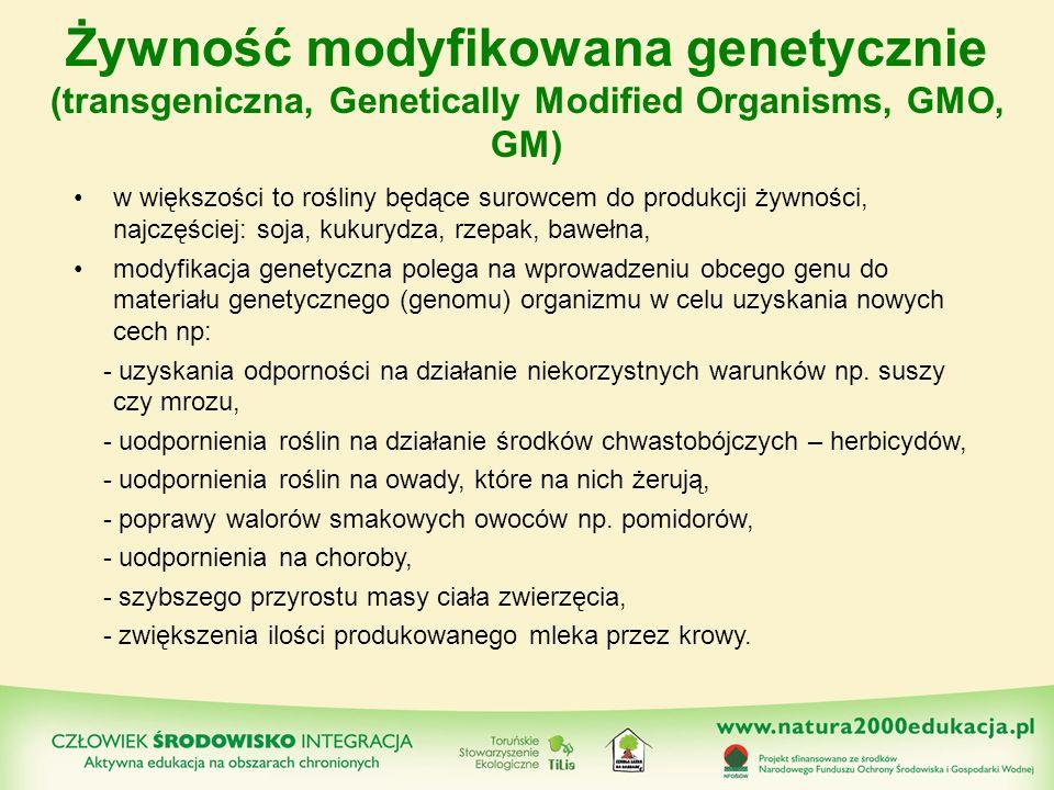 Żywność modyfikowana genetycznie (transgeniczna, Genetically Modified Organisms, GMO, GM)