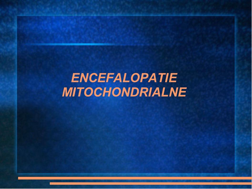 ENCEFALOPATIE MITOCHONDRIALNE