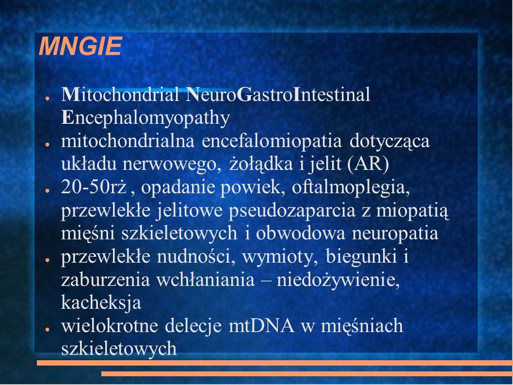 MNGIE Mitochondrial NeuroGastroIntestinal Encephalomyopathy
