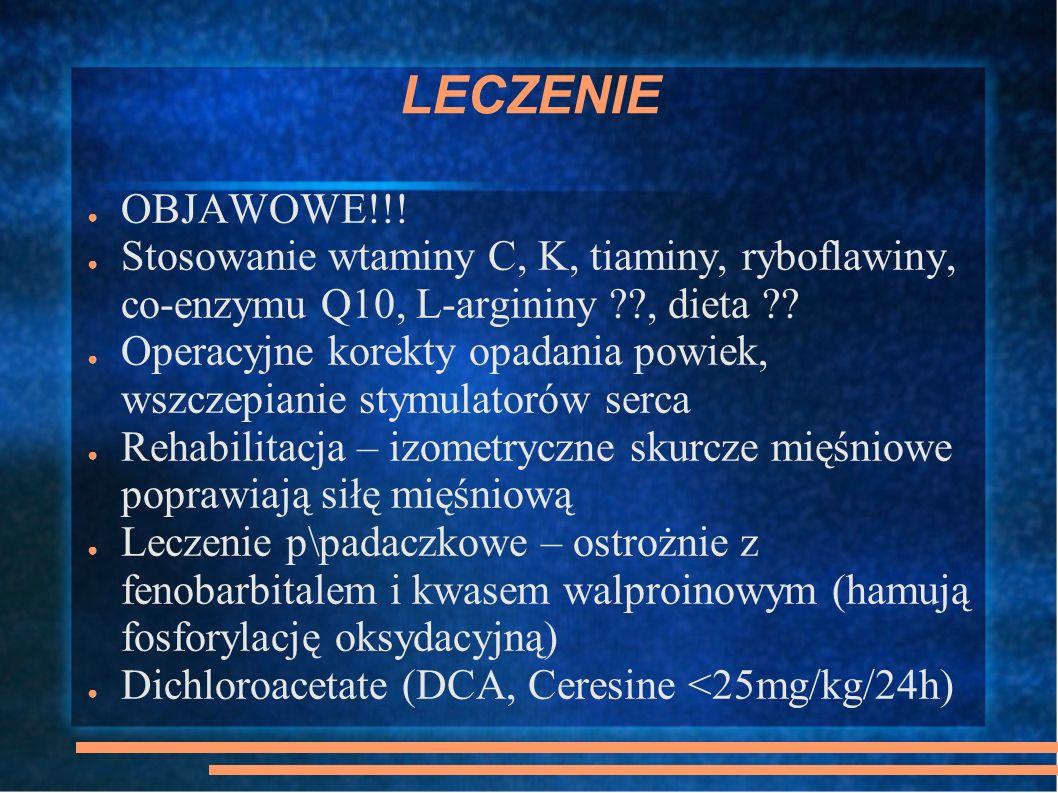 LECZENIE OBJAWOWE!!! Stosowanie wtaminy C, K, tiaminy, ryboflawiny, co-enzymu Q10, L-argininy , dieta