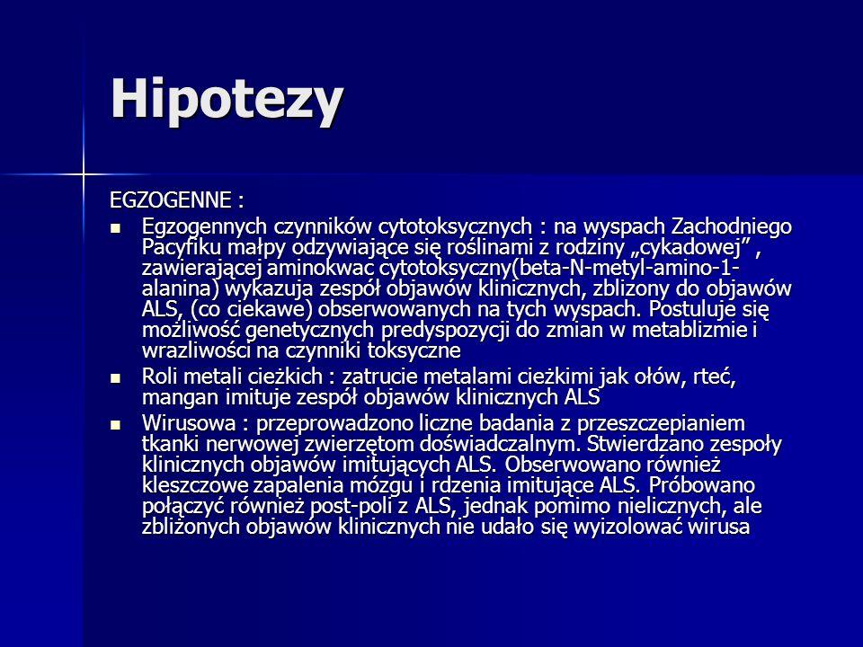 Hipotezy EGZOGENNE :