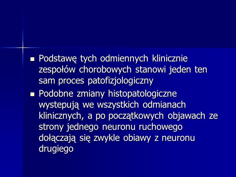 Podstawę tych odmiennych klinicznie zespołów chorobowych stanowi jeden ten sam proces patofizjologiczny