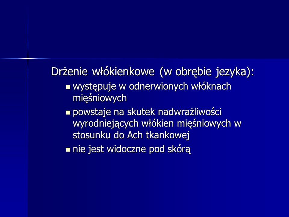 Drżenie włókienkowe (w obrębie jezyka):
