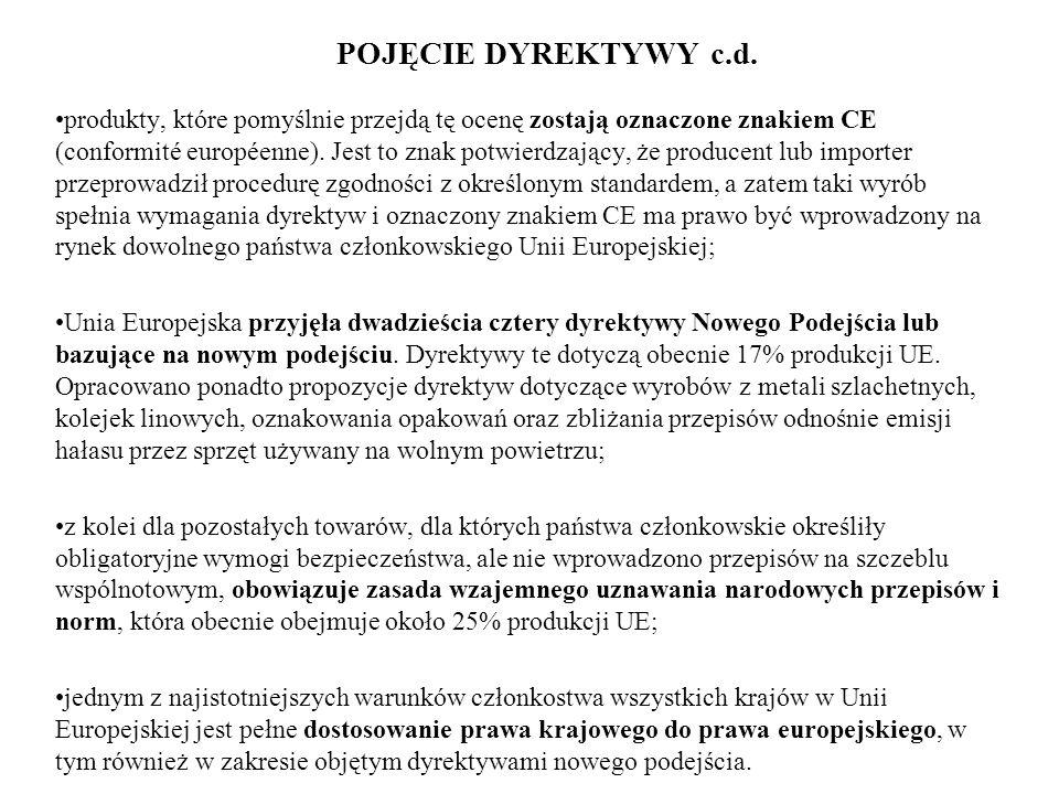 POJĘCIE DYREKTYWY c.d.