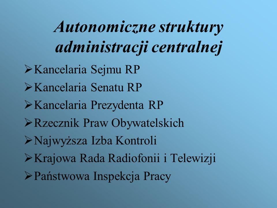 Autonomiczne struktury administracji centralnej