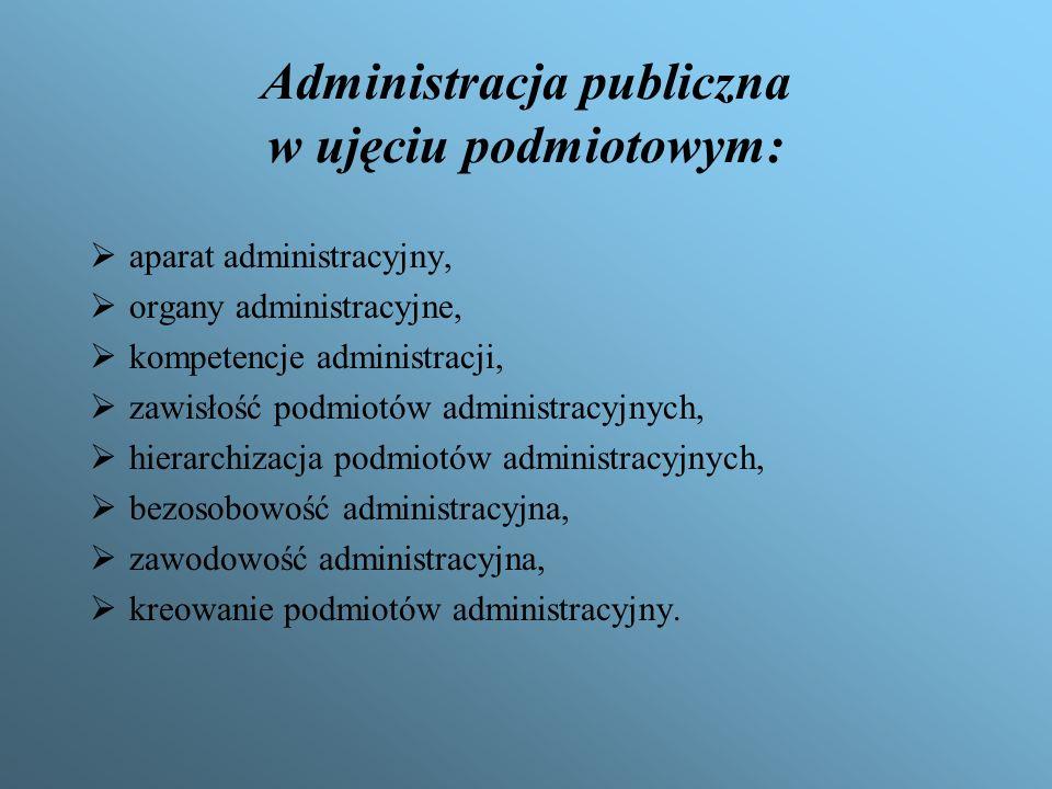 Administracja publiczna w ujęciu podmiotowym: