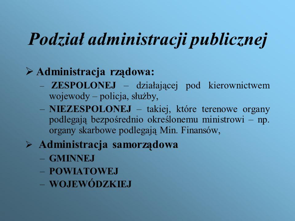 Podział administracji publicznej