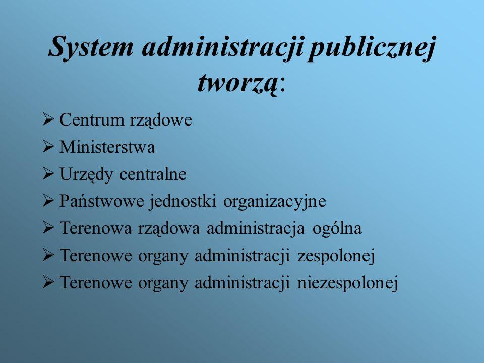 System administracji publicznej tworzą:
