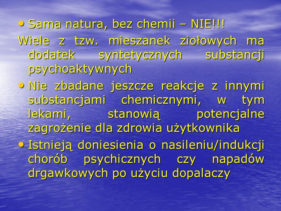 Sama natura, bez chemii – NIE!!!