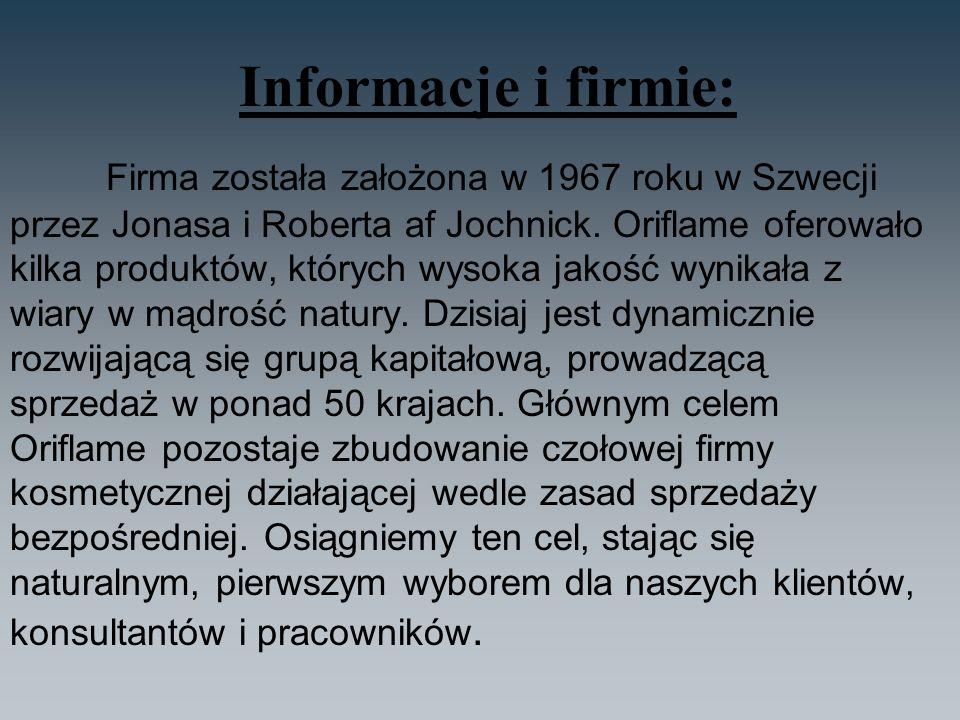 Informacje i firmie: