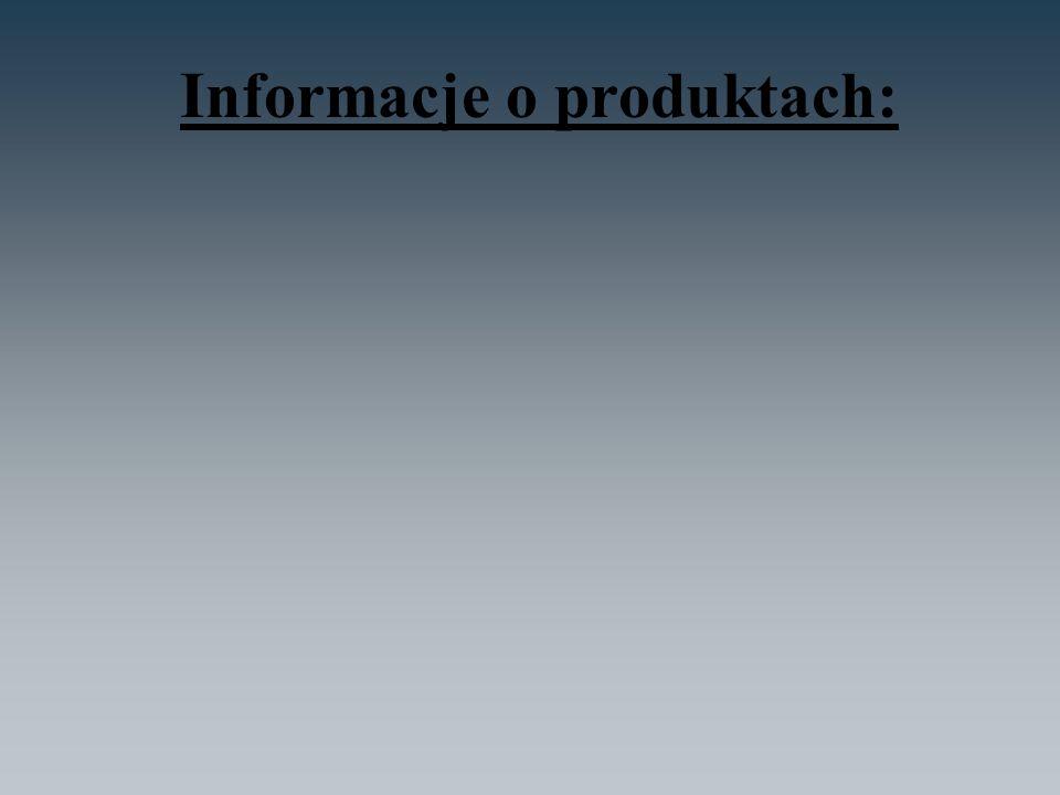Informacje o produktach: