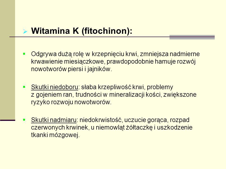 Witamina K (fitochinon):