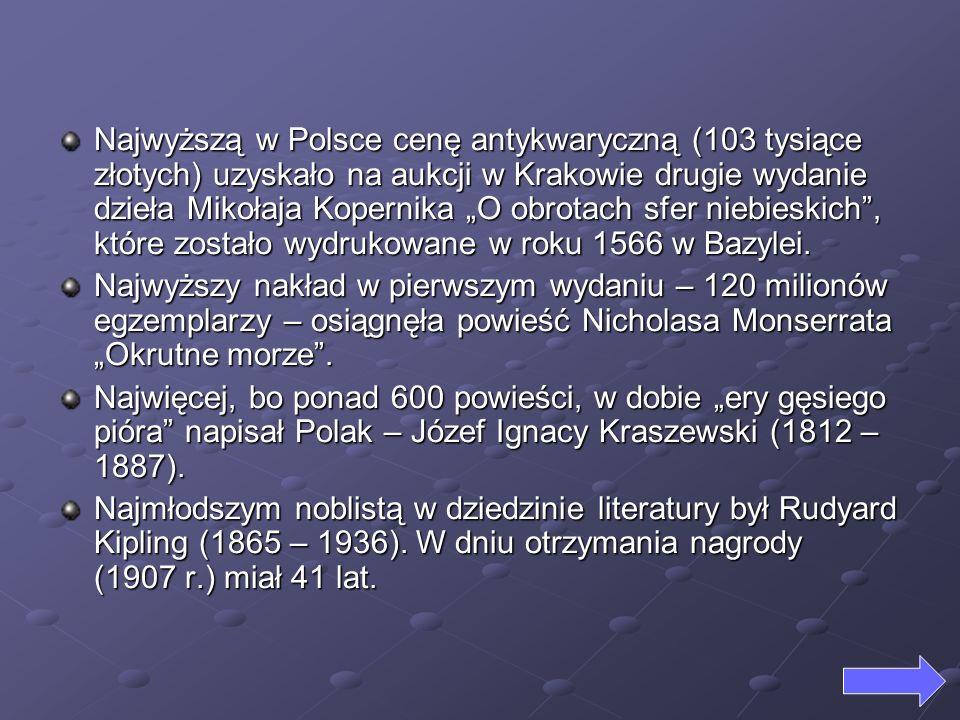 """Najwyższą w Polsce cenę antykwaryczną (103 tysiące złotych) uzyskało na aukcji w Krakowie drugie wydanie dzieła Mikołaja Kopernika """"O obrotach sfer niebieskich , które zostało wydrukowane w roku 1566 w Bazylei."""