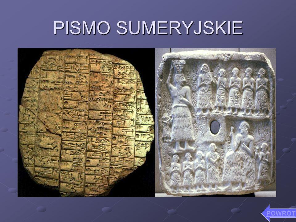 PISMO SUMERYJSKIE POWRÓT