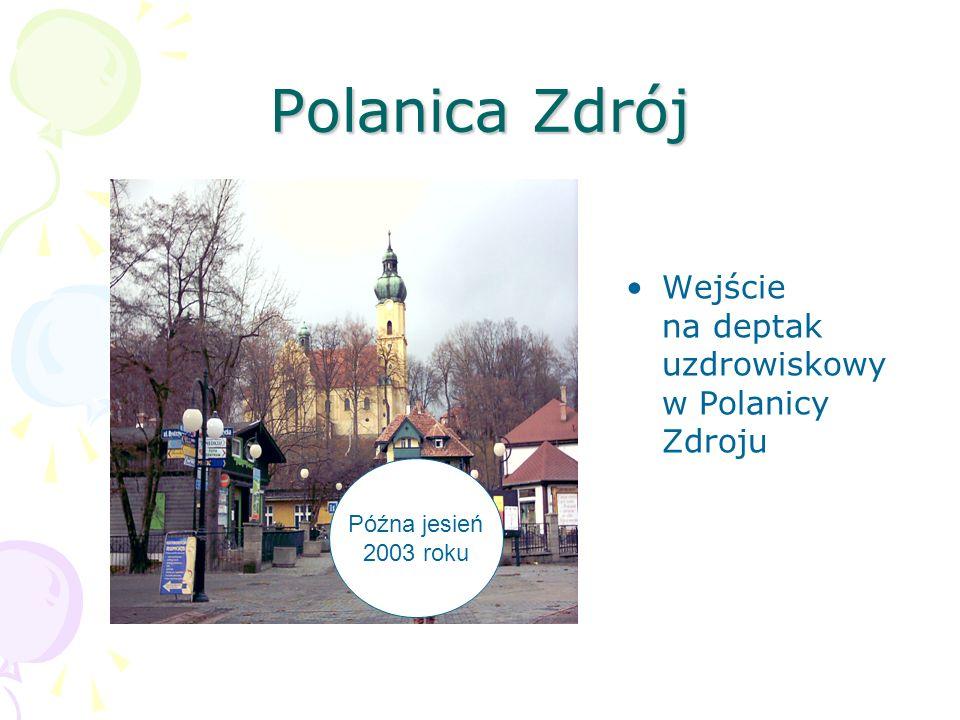 Polanica Zdrój Wejście na deptak uzdrowiskowy w Polanicy Zdroju