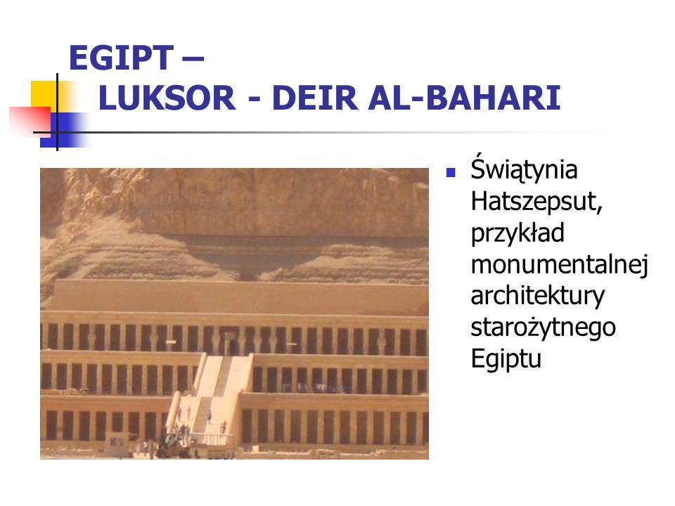 EGIPT – LUKSOR - DEIR AL-BAHARI