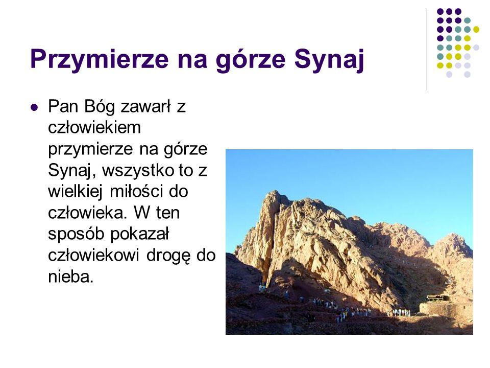 Przymierze na górze Synaj