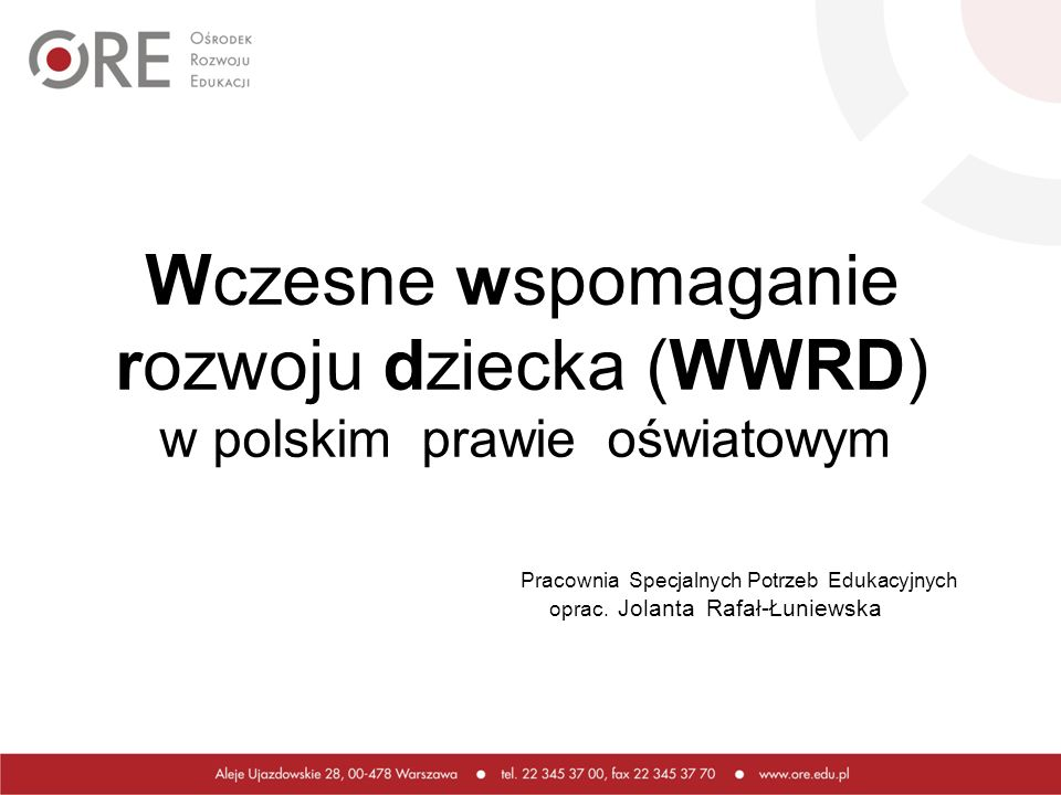 rozwoju dziecka (WWRD)