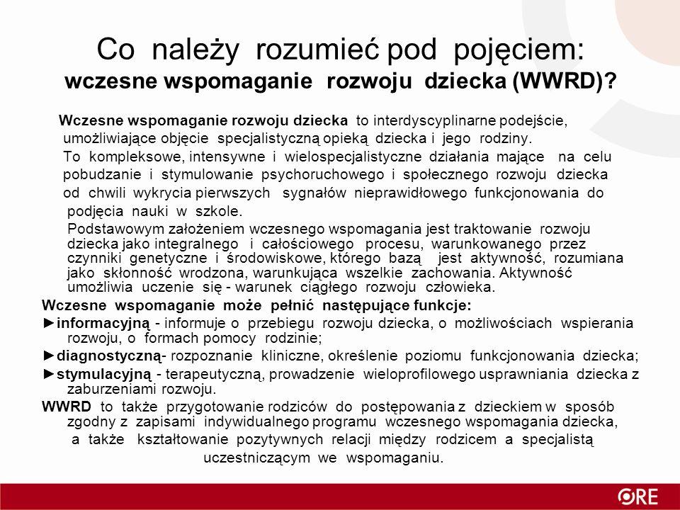 Co należy rozumieć pod pojęciem: wczesne wspomaganie rozwoju dziecka (WWRD)