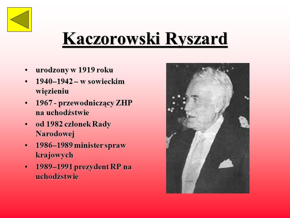 Kaczorowski Ryszard urodzony w 1919 roku