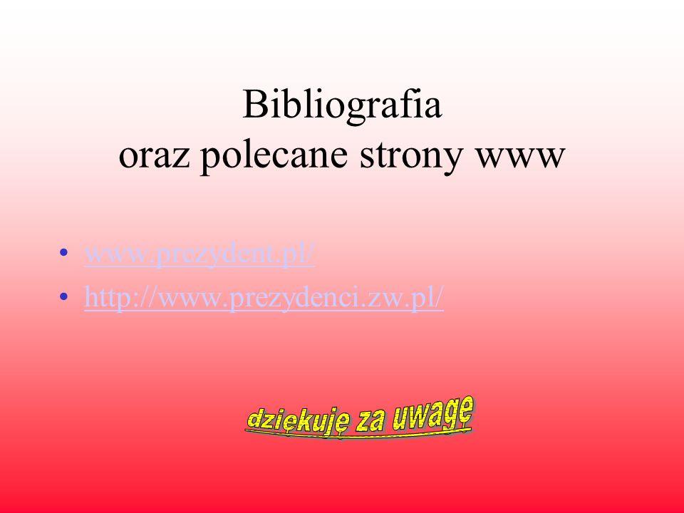 Bibliografia oraz polecane strony www
