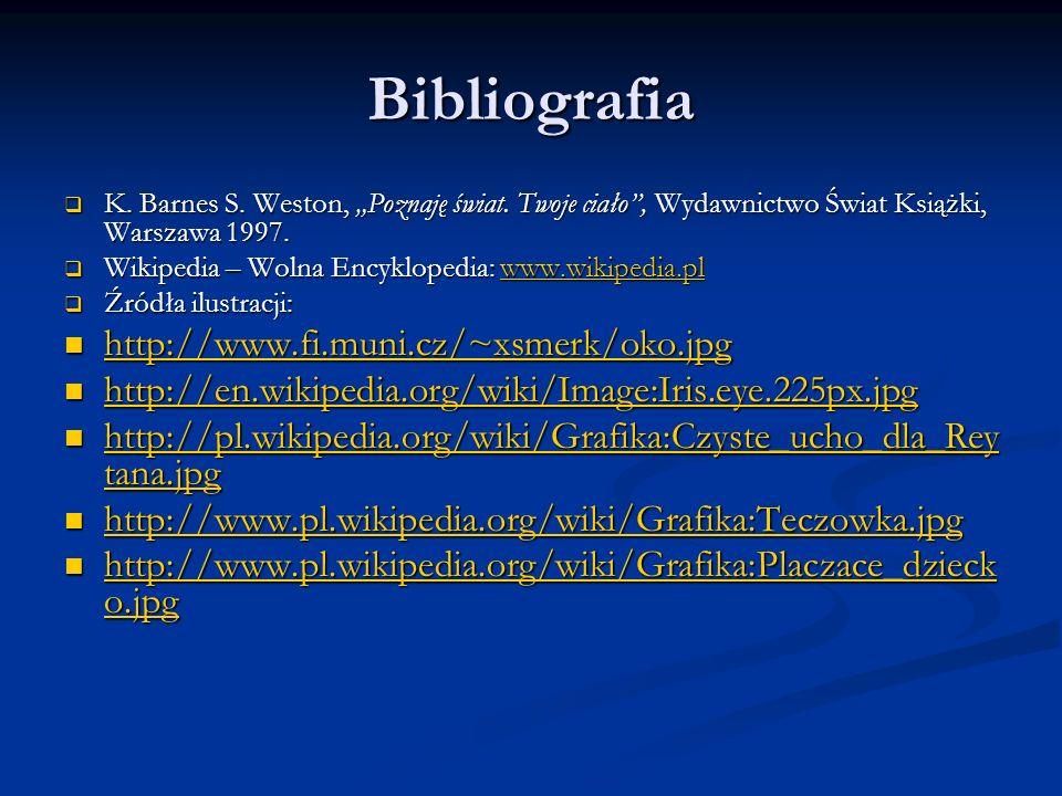 Bibliografia http://www.fi.muni.cz/~xsmerk/oko.jpg