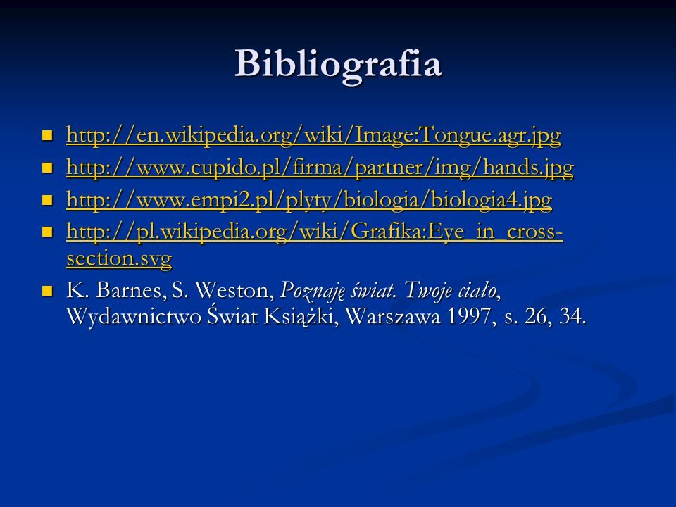 Bibliografia http://en.wikipedia.org/wiki/Image:Tongue.agr.jpg