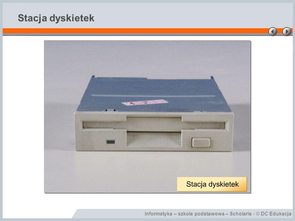 Stacja dyskietek Stacja dyskietek, to urządzenie służące do zapisu i odczytu dyskietek.