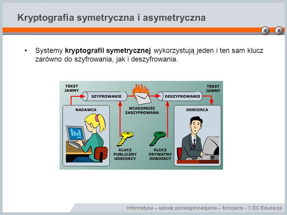 Kryptografia symetryczna i asymetryczna