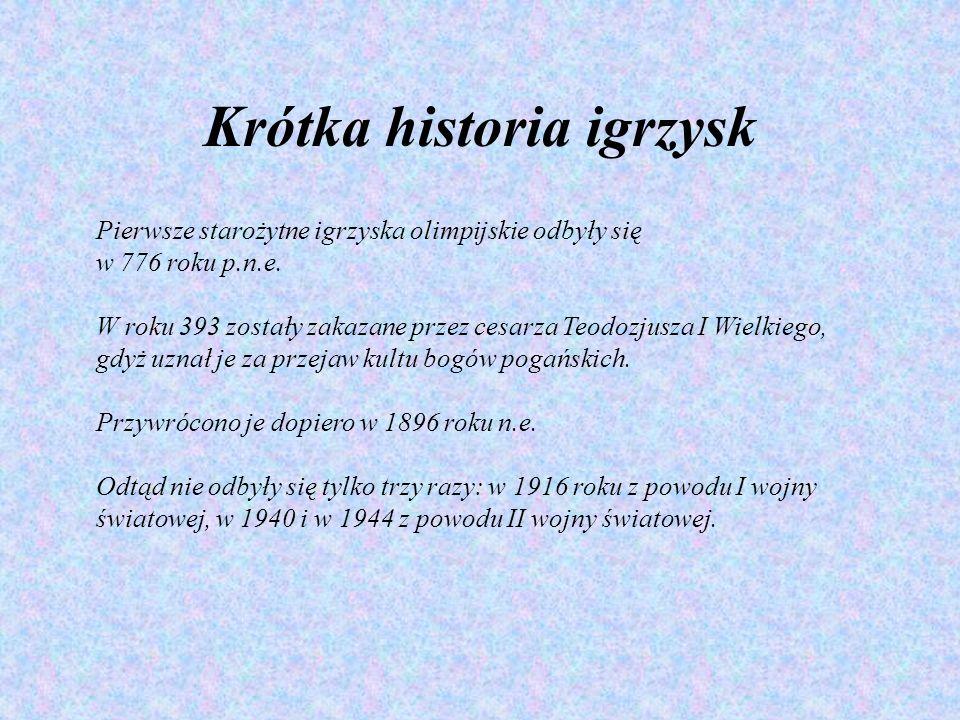 Krótka historia igrzysk