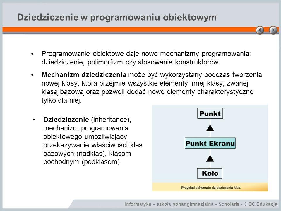 Dziedziczenie w programowaniu obiektowym