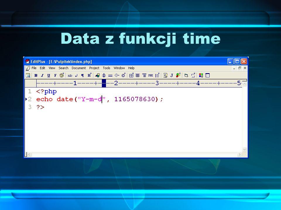 Data z funkcji time