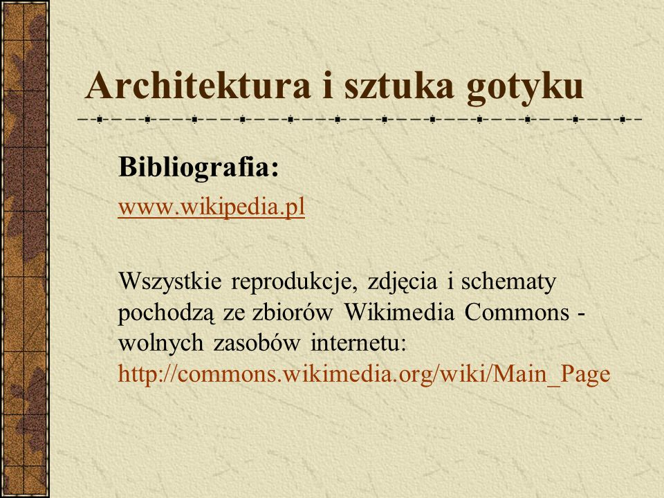 Architektura i sztuka gotyku