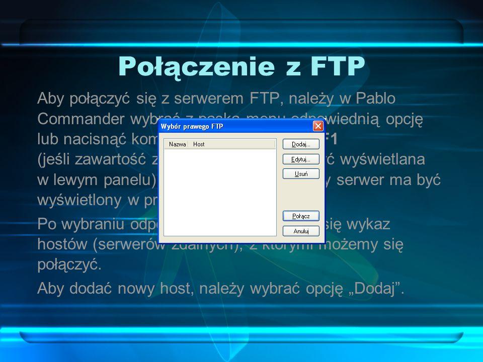Połączenie z FTP