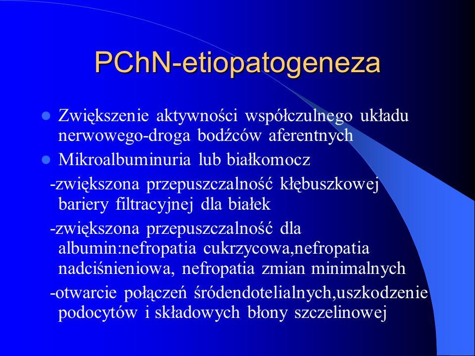 PChN-etiopatogeneza Zwiększenie aktywności współczulnego układu nerwowego-droga bodźców aferentnych.
