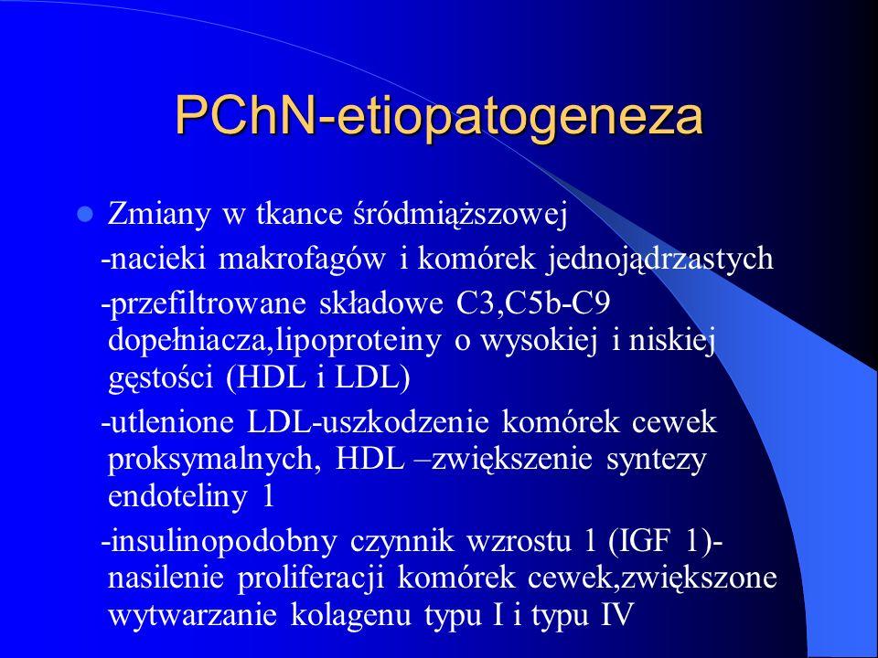 PChN-etiopatogeneza Zmiany w tkance śródmiąższowej